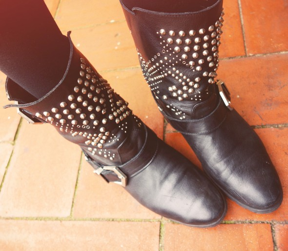 zara studs boots_effected