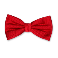 bright red bow tie