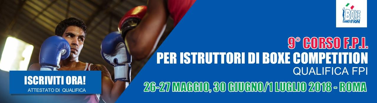 9°Corso FPI per Istruttori di Boxe Competition