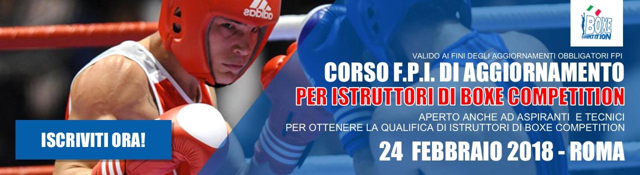 Corso FPI di Aggiornamento per Istruttori di Boxe Competition