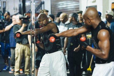 Mayweather workout