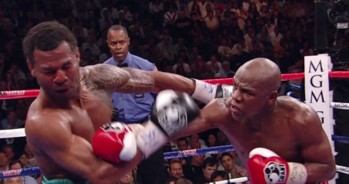 photo: shane mosley floyd mayweather jr