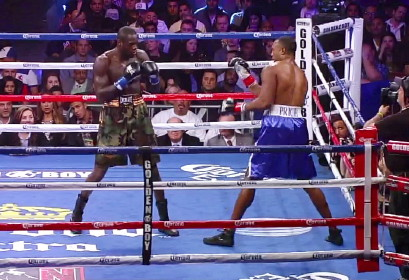 photo: deontay wilder boxing audley harrison