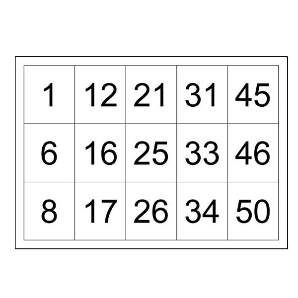 Bingo Cards Numbered to 50 - Printable - Box \u0027n\u0027 Dice