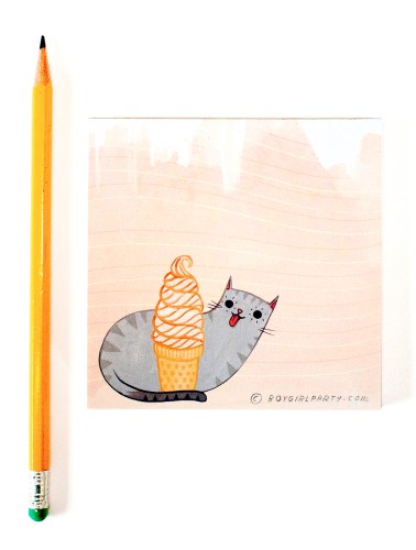 ice cream cat by susie ghahremani / boygirlparty.com