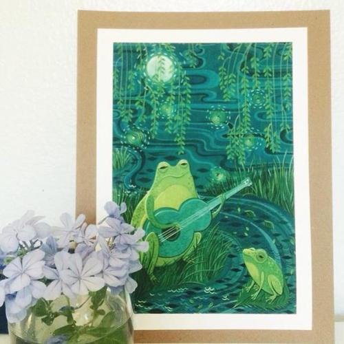 Susie Ghahremani Tiny Showcase print Frog Song, photographed by joyluckclubbing