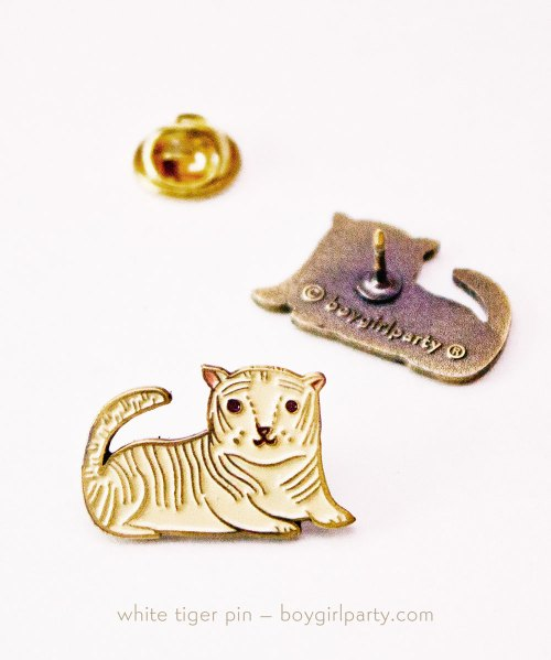 White Tiger Pin by boygirlparty
