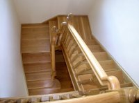 White Oak U Shape Stairs with 2 Quarter Landings  Boyle ...