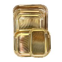 BP vassoio pasticceria elegant bordo largo Oro 01