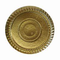 BP vassoio pasticceria rotondo oro