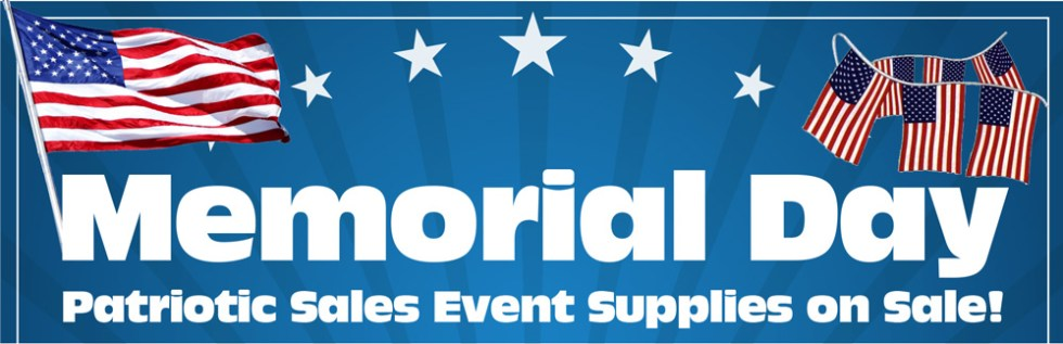 Memorial Day Sales Event Supplies