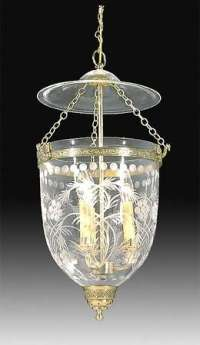 19th Century Hall Lantern with Floral Foliate design ...