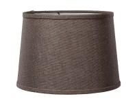 Charcoal Brown Burlap Deep Drum Hardback Lampshades 07224S