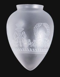 Bulb Shaped Satin Etched Pendant Shade 08826i | B&P Lamp ...