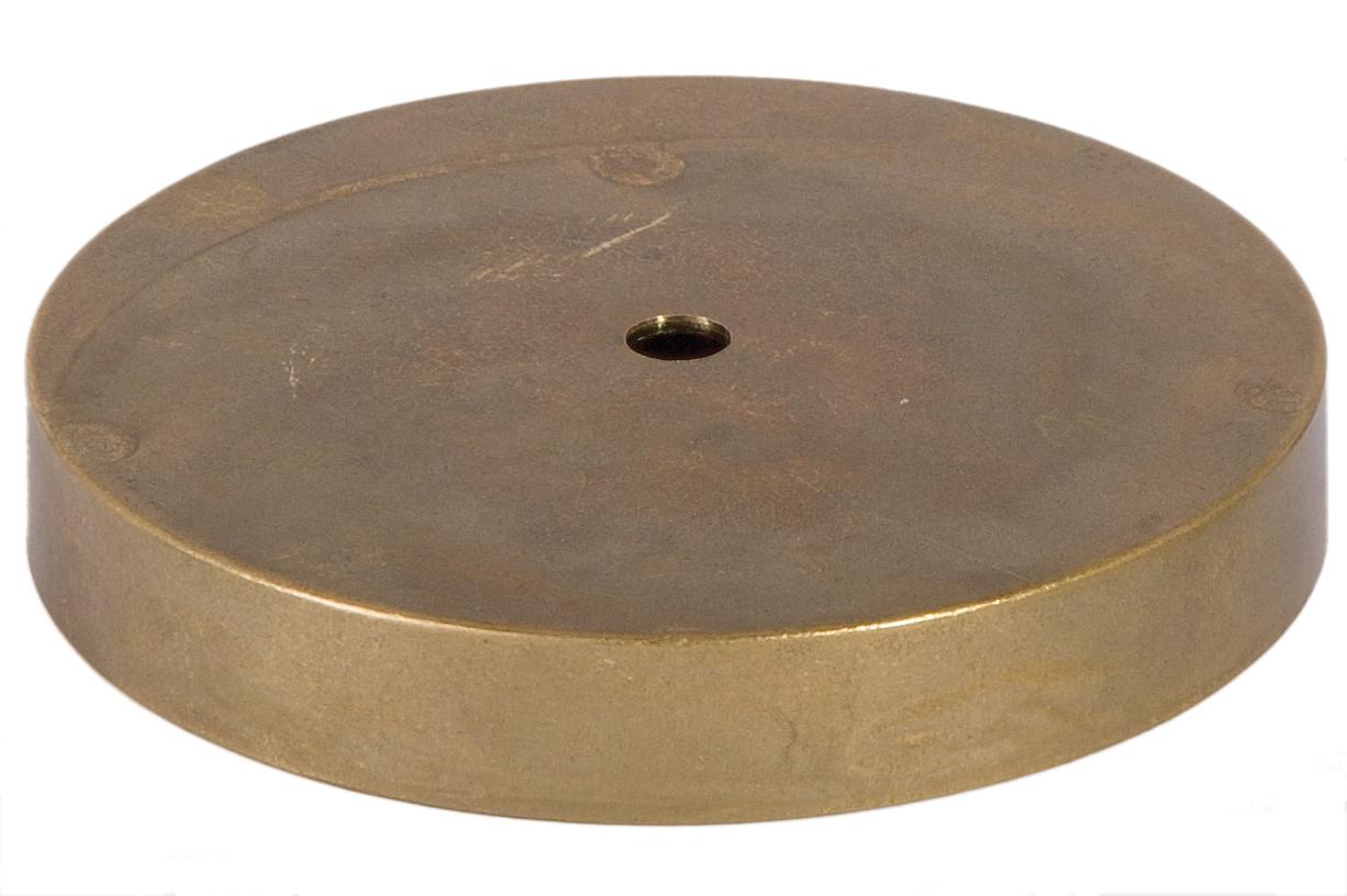 Round Unfinished Cast Brass Lamp Base 10042U