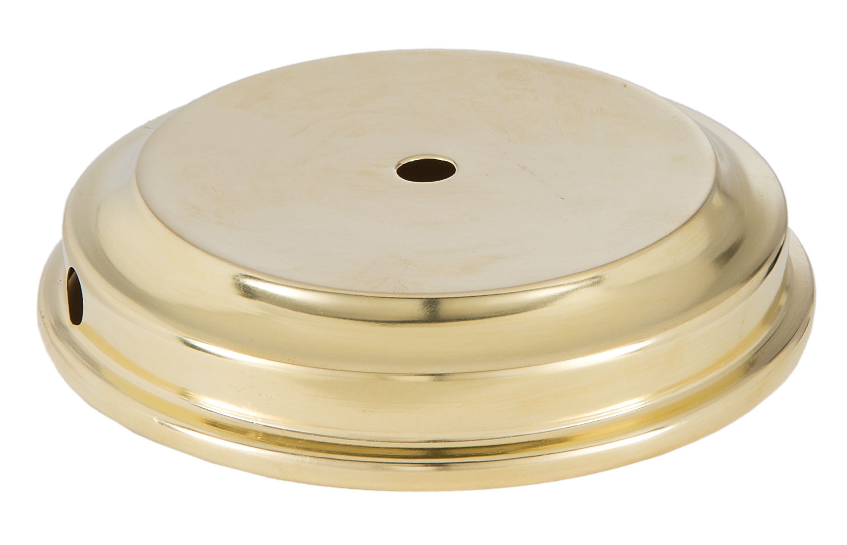 Unfinished Flaired Disc Solid Brass Lamp Base 10053U