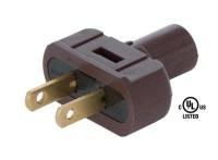 Brown Lamp Plugs for Round PVC Cord 48557B | B&P Lamp Supply
