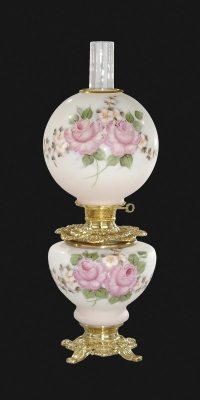 Hand Painted Bridal Roses Design Parlor Lamp 69191C | B&P ...