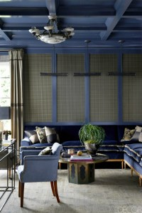 Living Room Inspiration: Blue Sofa