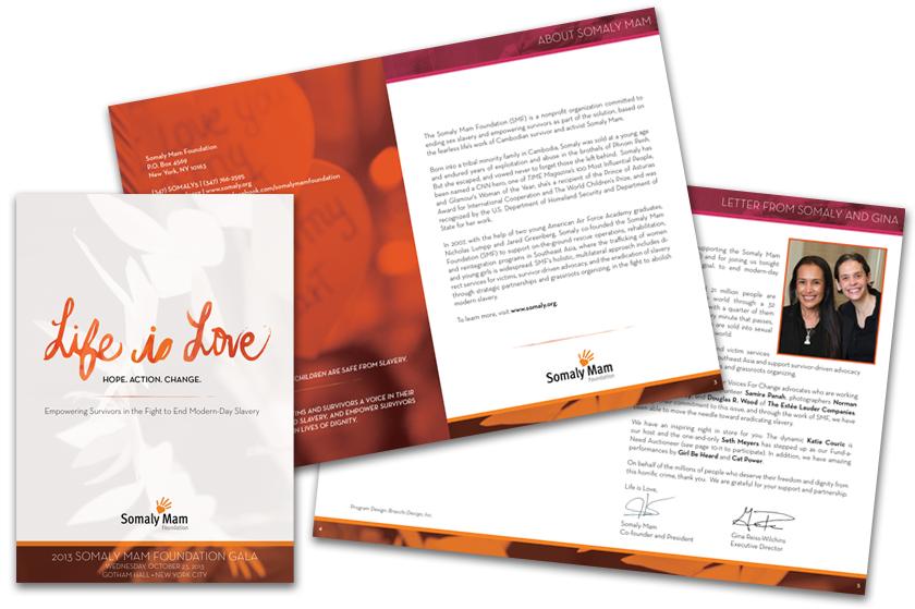 Bracchi Design Portfolio by Design Category - event program
