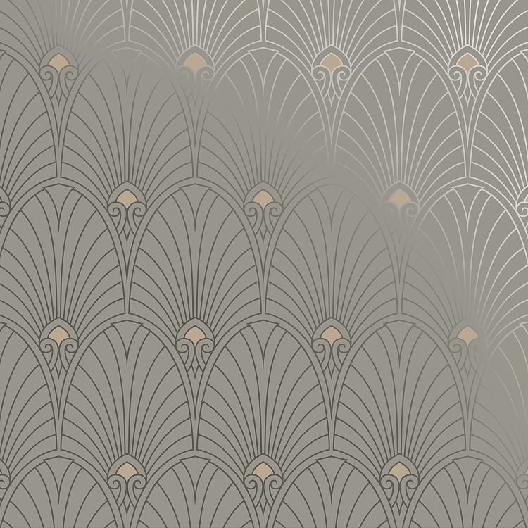 Ar 15 Girl Wallpaper Bradbury Art Deco Designs Havana Retro Wallpaper In Pewter