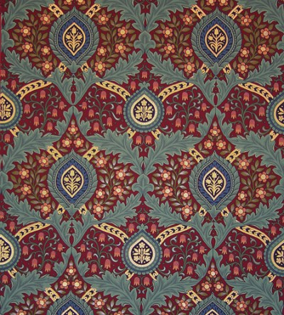 Knightsbridge Damask Wallpaper | Victorian Wallpapers | Bradbury & Bradbury