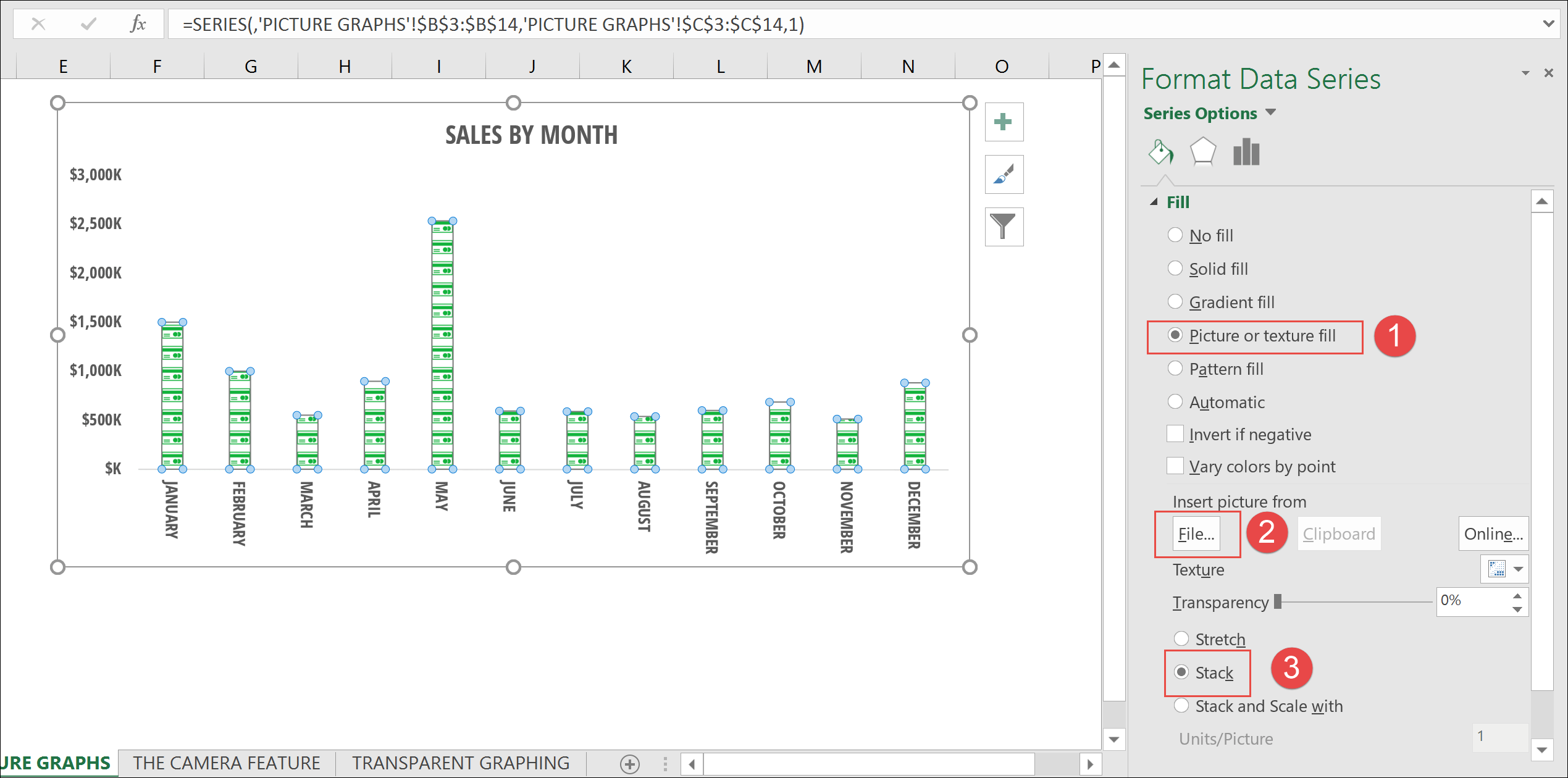 how to create a stacked bar chart in excel 2016