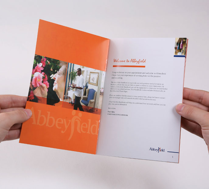 Spread from employee handbook idea was to create something that - video brochure template
