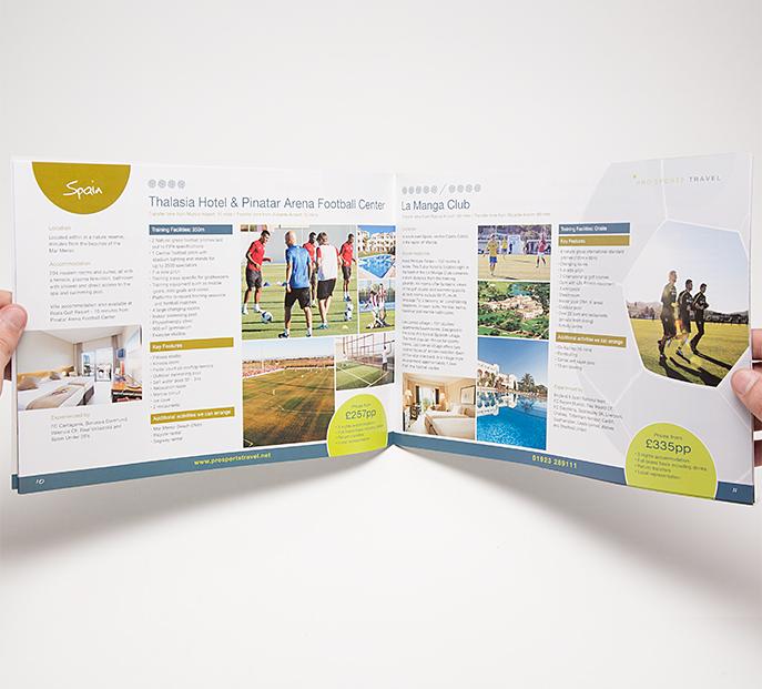 Brochure Design Hertfordshire - Braden Theadgold Graphic Design Agency - sports brochure