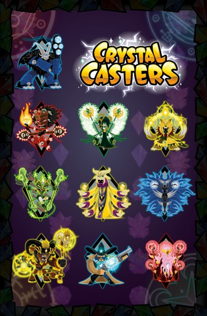 Crystal-Casters-Game-Character-Design-Poster-01