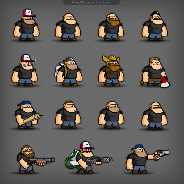 Fred-VS-Apocalypse-Game-Character-Design