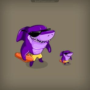 Lifeguard-Shark-NPC-Game-Character-Design