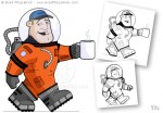 Cartoon Astronaut Character Design