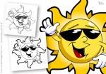 Cartoon Sun Character Design