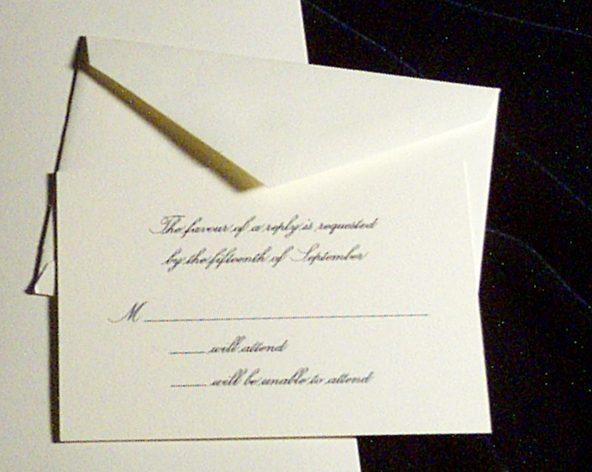 Addressing Wedding Response Card Envelopes towelbars