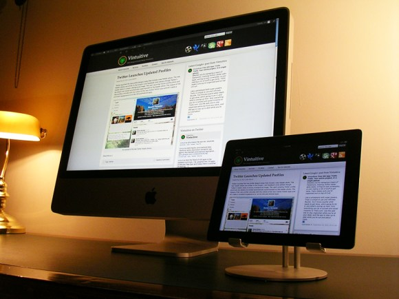iMac next to iPad