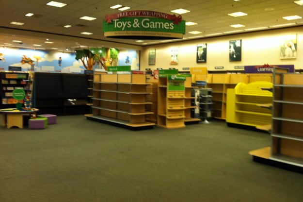 The purists who didn't like the floor space that Toys & Games took over in recent years may be gratified to see that area as one of the first cleared out.