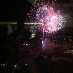 The best shot I could get of the fireworks, from the Capital City Club.