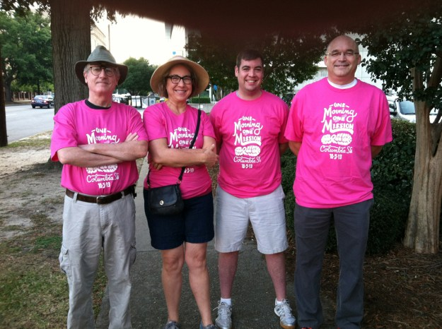 Last year's actual walkers -- yours truly, Kathryn Fenner, Bryan Caskey, Doug Ross.
