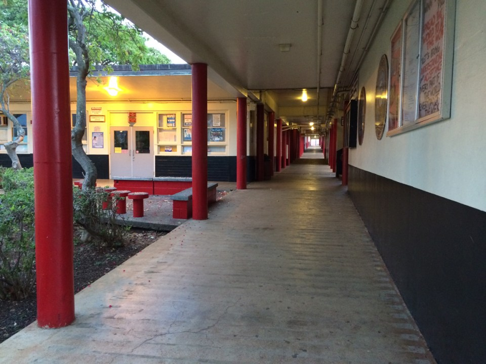 Another shot of Radford HS. We didn't have hallways; we had breezeways.