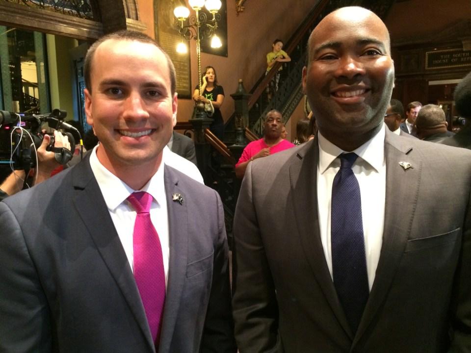 SC GOP Chairman Matt Moore and Democratic Chair Jaime Harrison, in complete agreement.