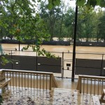 Another shot of the tennis courts. That's the river proper in the background, beyond the trees.