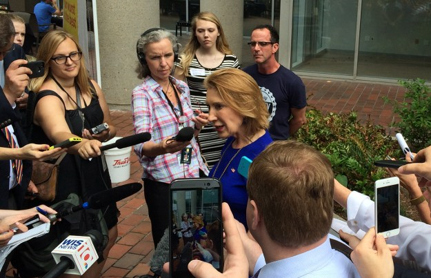 Carly Fiorina campaigning in Columbia, May 2015