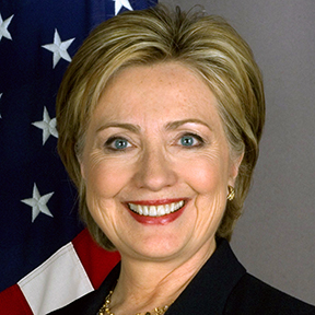 Her official SecState portrait.