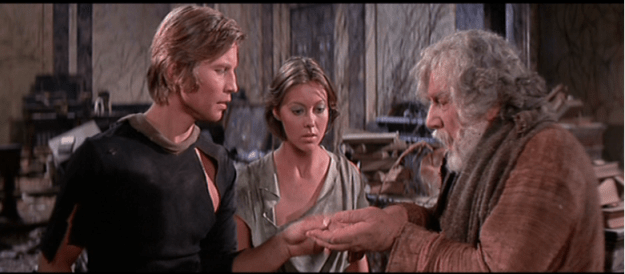 """Peter Ustinov (on the right) in """"Logan's Run."""""""