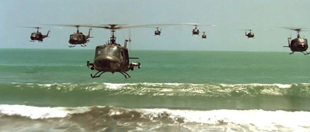 Ride of the Valkyrie. Think how disappointing 'Apocalypse Now' would have been if Coppola had shown just one Huey.