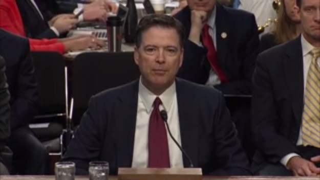 "Comey, right after he said of Trump's excuses for firing him, ""Those were lies, plain and simple..."""