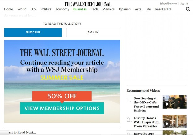 WSJ paywall
