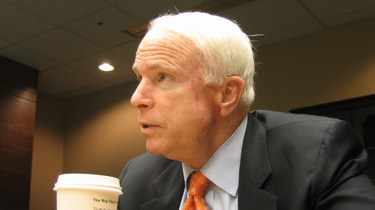 McCain in the same seat, not long before.