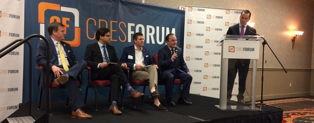 The solar panel (get it?): Rep. Nathan Ballentine, Charles Hernick of CRES, Bret Sowers of the SC Solar Business Alliance, Tyson Grinstead of Sunrun, Inc., and moderator Matt Moore.
